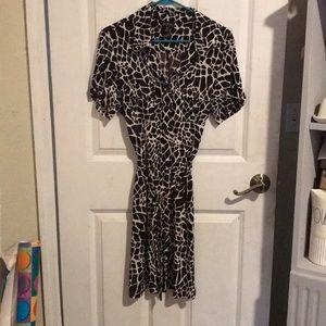 Giraffe print dress. Size 14.